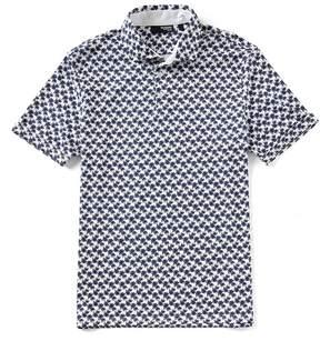 Murano Slim-Fit Palms Print Short-Sleeve Polo Shirt