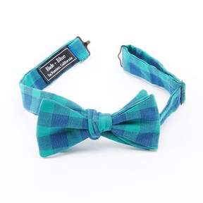 Blade + Blue Green Mini Buffalo Check Bow Tie
