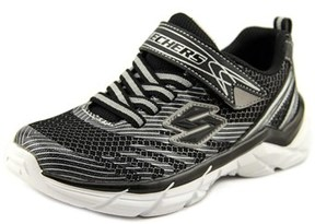 Skechers Rive Youth Round Toe Synthetic Black Sneakers.
