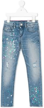 Tommy Hilfiger Junior paint splattered jeans