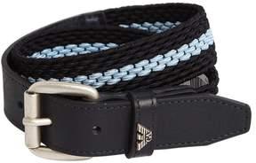 Armani Junior Woven Elastic & Leather Belt
