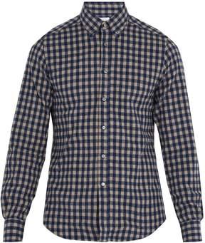 Boglioli Single-cuff checked cotton-flannel shirt
