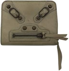 Balenciaga Grey Leather Wallets