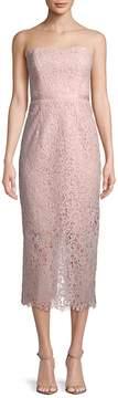 Shoshanna Women's Ella Corded Lace Strapless Dress