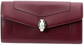 Bulgari Burgundy Leather Wallets