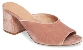 Madewell Women's Beth Velvet Slide Sandal