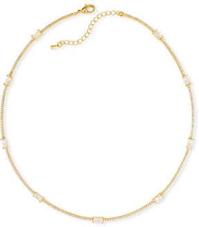 Fallon Baguette Bar Collar Necklace