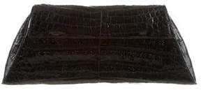 Nancy Gonzalez Crocodile Flap Clutch