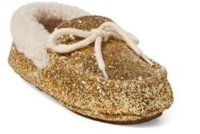 Ralph Lauren Allister Glitter Slipper Gold Glitter 4