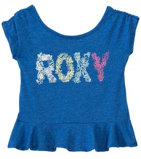 Roxy Girls' Sea S/S Ruffled Tee (2T6X) - 8135502