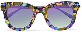 Thierry Lasry Sexxxy Cat-eye Acetate And Gold-tone Sunglasses - Purple