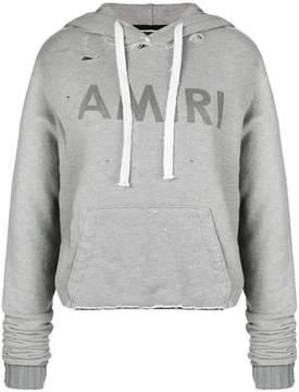 Amiri logo print cropped hoodie