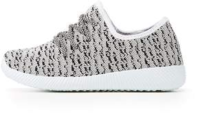 Charlotte Russe Qupid Marled Knit Lace-Up Sneakers