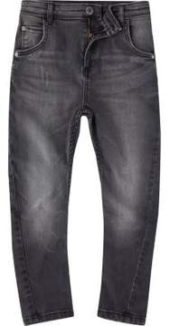 River Island Boys black washed Tony slouch jeans