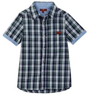 7 For All Mankind Woven Short Sleeve Shirt (Big Boys)