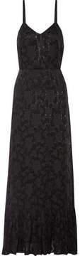 Co Fil Coupé Chiffon Maxi Dress - Black