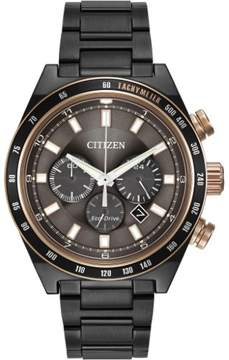 Citizen Sport Chrono CA4207-53H Black/Brown Analog Eco-Drive Men's Watch