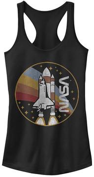 Fifth Sun Black Retro Rocket 'NASA' Racerback Tank - Juniors