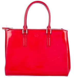 Anya Hindmarch Patent Double-Zip Tote