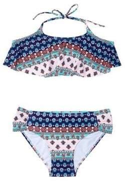 Hula Star Girl's Two-Piece Printed Tankini Top and Bottom Set