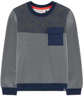 Jean Bourget Bi-material sweatshirt