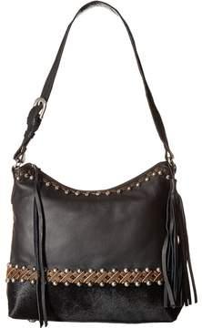 American West Wild Horses Zip Top Shoulder Bag Shoulder Handbags