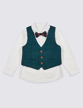 Marks and Spencer 3 Piece Waistcoat Outfit (3 Months - 6 Years)