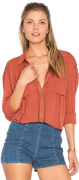 Amuse Society Belmont Woven Top