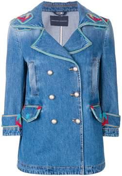 Ermanno Scervino contrast embroidered denim jacket