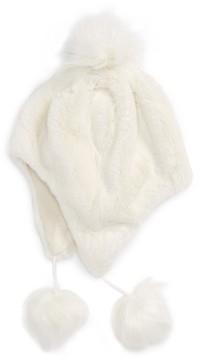 Tucker + Tate Girl's Faux Fur Earflap Hat - Ivory