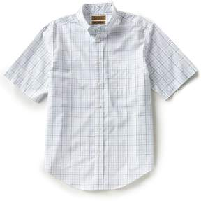 Roundtree & Yorke Gold Label Short-Sleeve Tattersall Non-Iron Sportshirt