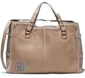 Jerome Dreyfuss Karung-Trimmed Leather And Suede Shoulder Bag