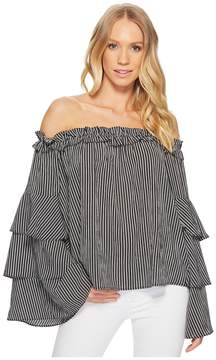 J.o.a. Off the Shoulder Tiered Sleeve Top Women's Clothing