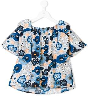 Chloé Kids floral gathered blouse