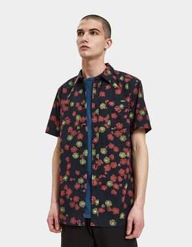 Obey Felix Woven SS Shirt in Black Multi
