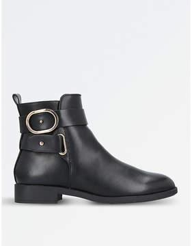 Miss KG Ladies Black Modern Trinny Buckle-Detail Ankle Boots