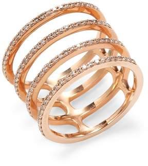 Ef Collection Women's Multi Spiral Diamond Ring