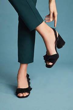 Anthropologie Silent D Nomble Ruffled Heels