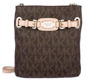 MICHAEL Michael Kors Leather-Trimmed Monogram Crossbody Bag