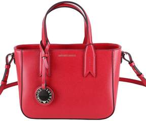 Emporio Armani Faux Leather Top Handles Bag