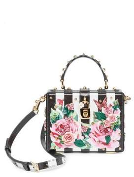 Dolce & Gabbana Embellished Rose & Checker Bag - ROSE-LINE - STYLE