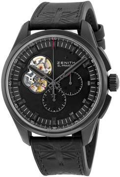 Zenith El Primero Chronomaster Black Dial Titanium Automatic Men's Watch 962260406121R575