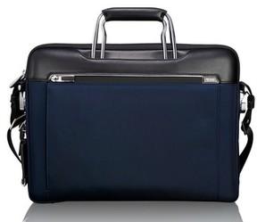 Tumi Men's Arrive Hamilton Briefcase - Blue