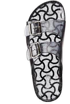 Charlotte Russe Glitter Buckled Slide Sandals