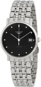 Longines Elegant Automatic Black Dial Men's Watch