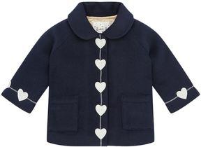 Rachel Riley Heart Trim Coat