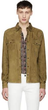 Saint Laurent Brown Suede Shirt Jacket