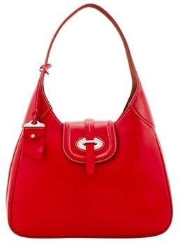 Dooney & Bourke Florentine Toscana Large Hobo Shoulder Bag. - RED - STYLE