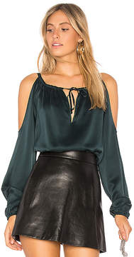 Chaser Silk Cold Shoulder Top