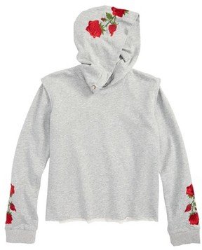 Hudson Girl's Layer Embroidered Hoodie